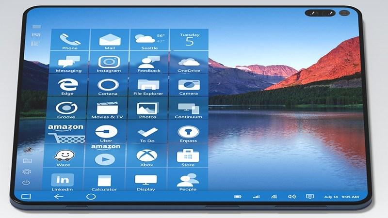Concept: Microsoft Suface Note viền siêu mỏng cực đẹp, biến hình thành tablet, bút cảm ứng Suface Pen