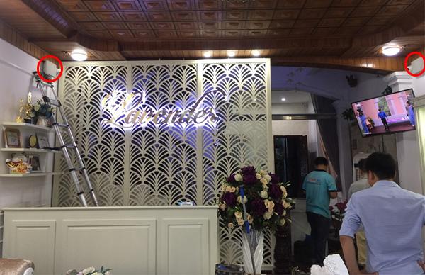 Lắp đặt hệ thống âm thanh cho spa Lavender tại Nam Định