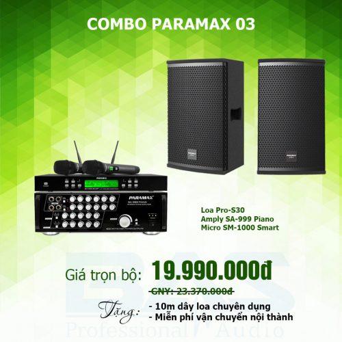 dàn karaoke gia đình paramax pro s30