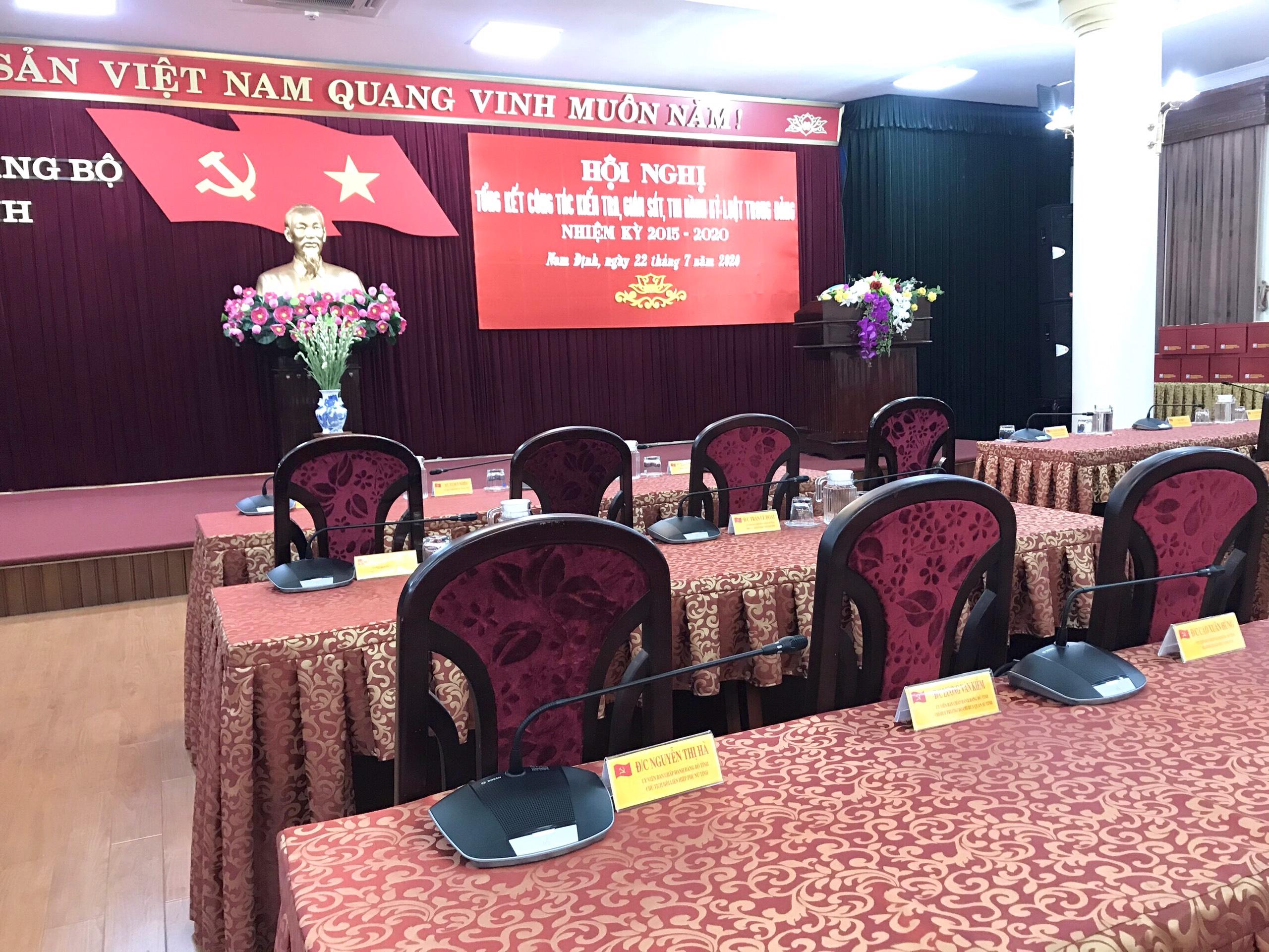 Hoàn thành hệ thống hội nghị tại Hội trường Văn phòng Tỉnh Uỷ Tỉnh Nam Định