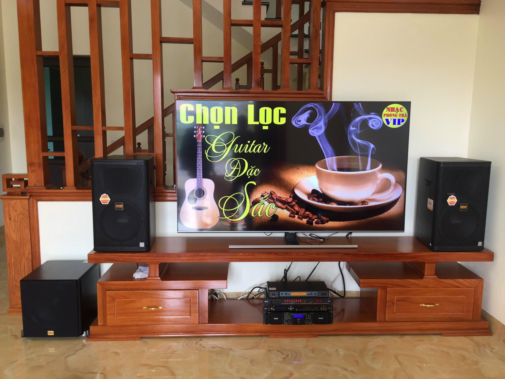 Lắp đặt dàn loa karaoke gia đình tại Hải Hậu
